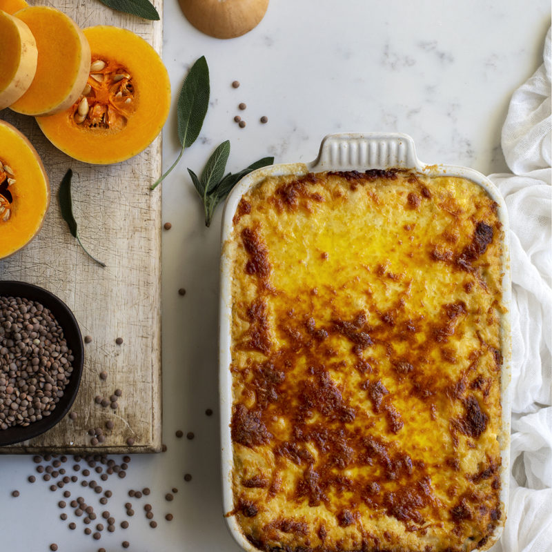 Butternut Sage and Lentil Lasagne